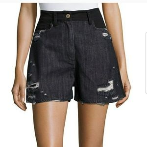 3020d8841f069 Public School distressed high waisted shorts